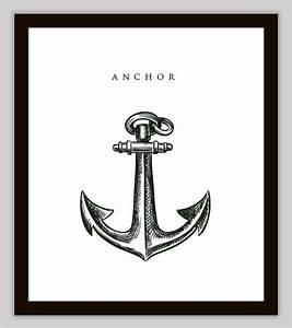 Anchor nautical home decor wall art on luulla