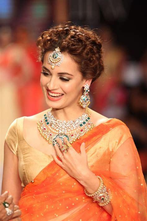 latest curly hairstyles  saree  lehenga