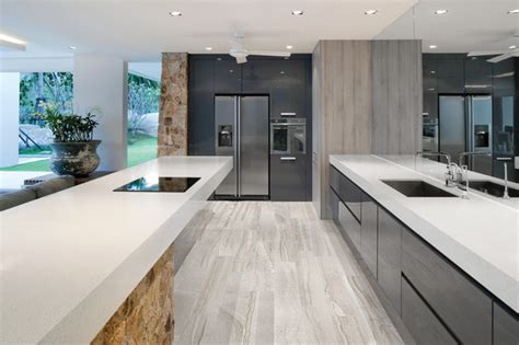 amelia mist floor tile modern kitchen  york