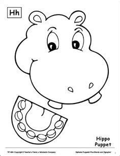 folding zoo animals   hippo crafts ideas