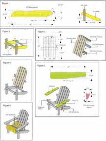 adirondack chair plan house stuff pinterest