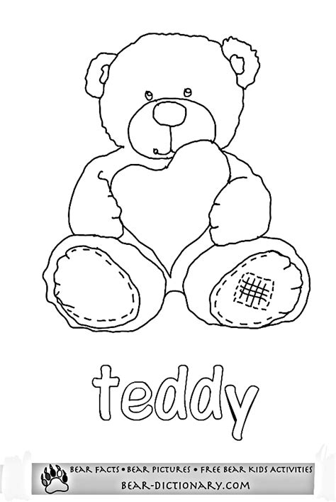 Printable Bear Worksheets 2,Toby's Fave Teddy Bear