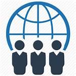 Global Business Icon Community Presence Communication Icons