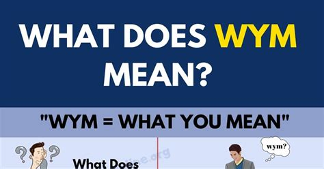 What Does WYM Stand For and How To Use This Useful ...