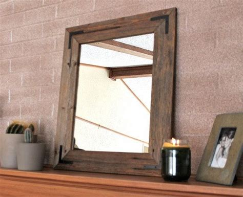 18x24 rustic industrial eco decor reclaimed wood mirror