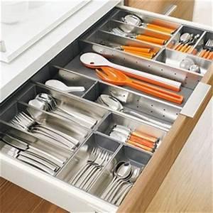 Rangement Ustensile Cuisine : accessoires de rangement pour couverts ustensiles de cuisine ~ Melissatoandfro.com Idées de Décoration