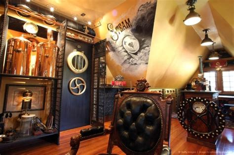 28 Crazy Steampunk Home Office Designs Divider Living Room And Kitchen Ranch Style Photos Discount Packages Coastal Furniture Orange Images How To Fit In A Small Home Interior Design Grey Leather Couch Ideas