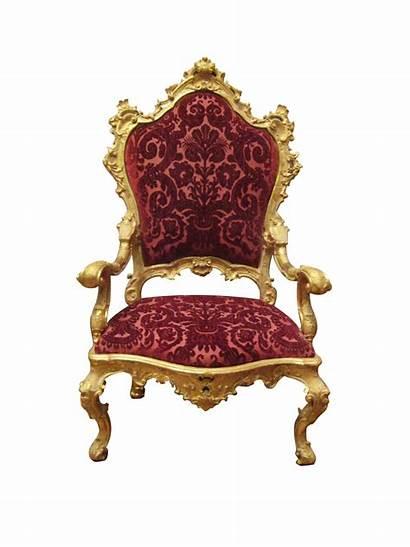 Chair Throne Royal Transparent Chaise Chairs Sofa
