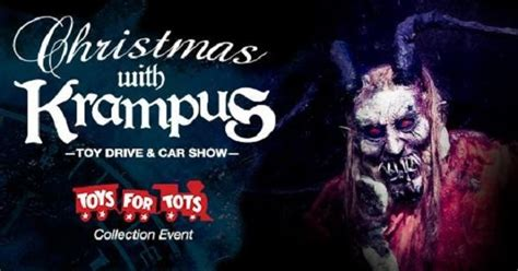christmas  krampus toy drive car show coming  dark hour haunted house