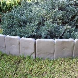 25 Meter Garten Palisaden Beetumrandung Grau Stein Optik