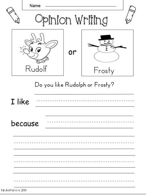 kindergarten opinion writing kindermommacom