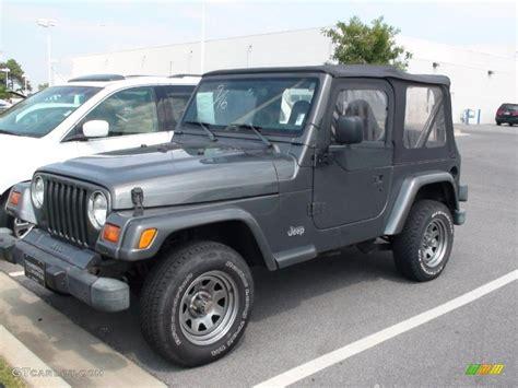 gunmetal blue jeep 1999 gunmetal pearlcoat jeep wrangler sport 4x4 37322571
