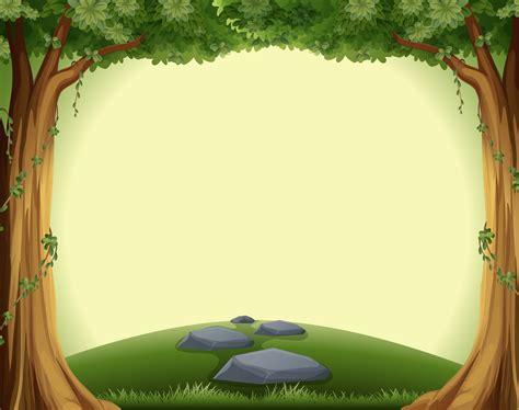 A blank forest template 417720 Vector Art at Vecteezy