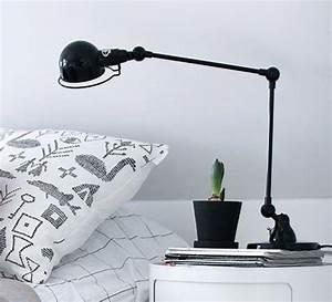 Lampe De Bureau Signal 2 Bras SI333 Noir Brillant