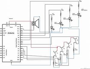 Simple Arduino Based Memory Game On Breadboard