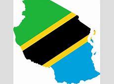 Clipart Tanzania Flag Map