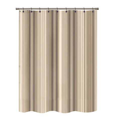 brown striped curtain panels shop allen roth polyester brown striped shower curtain