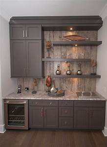 changes to the basement kitchenette from thrifty decor chick With kitchen cabinet trends 2018 combined with wall art for game room