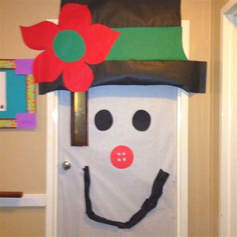 images of classroom door decorations snowmen spooky