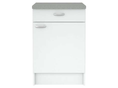 meubles bas cuisine meuble bas cuisine 1 porte 1 tiroir casa coloris blanc