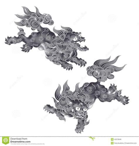 lion japonais illustration stock image
