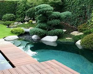 Gartengestaltung Mit Teich : teich schwimmteich pool gartengestaltung teichgestaltung steg asiatisch gartenteich ~ Markanthonyermac.com Haus und Dekorationen