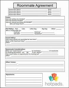 roommate agreement template free - 10 best images about printable agreements on pinterest