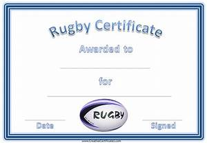 rugby award certificate With rugby league certificate templates