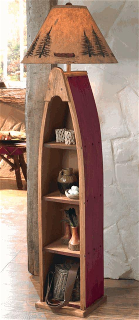 canoe shelf floor lamp