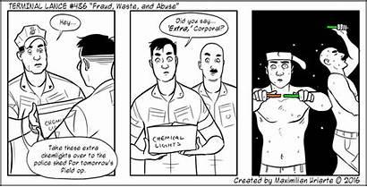 Fraud Abuse Waste Lance Terminal Marines Comics