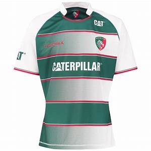KooGa Mens Leicester Tigers Rugby Home Replica Jersey Kit ...