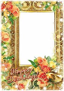 Birthday Frames Online Photo Frames Birthday Frame With A Bunch Of Flowers