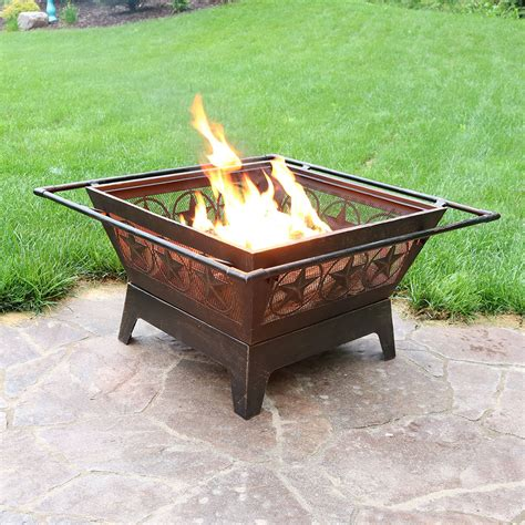 wood burning pits northern galaxy square pit 32in wood burning outdoor