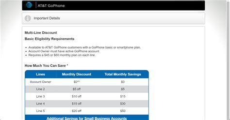 go phone account confirmed at t gophone to get multi line discounts
