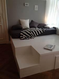 Podest Selber Bauen Bett : diy podest podest pinterest bett podest und schlafzimmer ~ Markanthonyermac.com Haus und Dekorationen