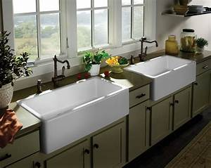 farmhouse sink options for kitchen homesfeed With big farm sink