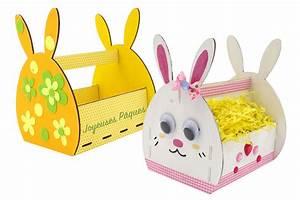 Panier Oeufs De Paques : panier lapin en bois monter paniers de p ques 10 doigts ~ Melissatoandfro.com Idées de Décoration