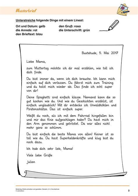 briefe schreiben grundschule klassenarbeit freyajacklin