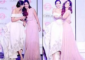 Katrina Kaif kisses Sonam Kapoor on stage by surprising ...