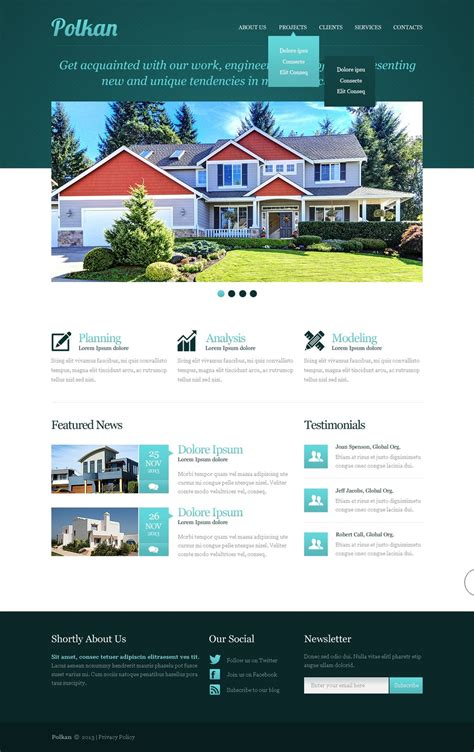 Real Estate Templates Real Estate Agency Responsive Website Template 42556