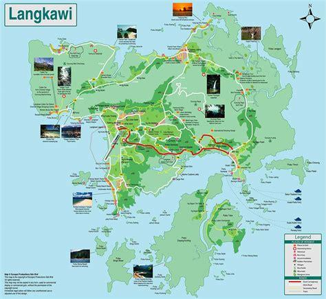 langkawi malaysia map  citiestipscom