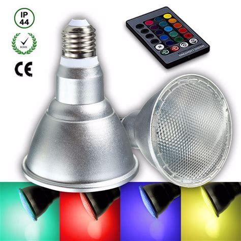 e27 8w dimmable par30 rgb led light color changing bulb