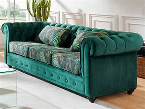 Chesterfield Sofa Samt : couchgarnitur samt chesterfield ewa g nstig ~ Whattoseeinmadrid.com Haus und Dekorationen