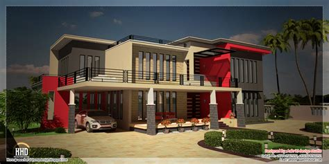 beautiful contemporary luxury villa  floor plan kerala home design  floor plans