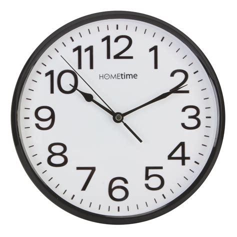 hometime plastic wall clocks white black kitchen home