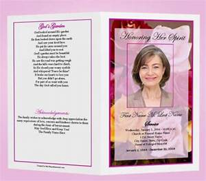 free funeral program templates funeral program template With free funeral program template publisher