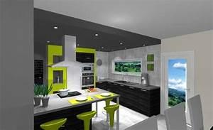 amenagement cuisine 20m2 miniature extension de 20m2 et With amenagement cuisine salon 20m2
