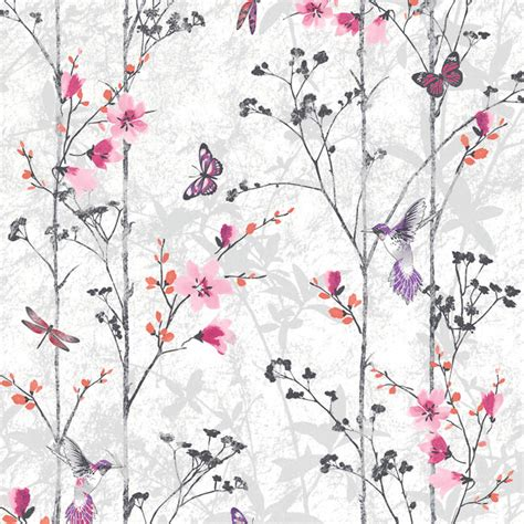 muriva eden wallpaper pink decorating diy
