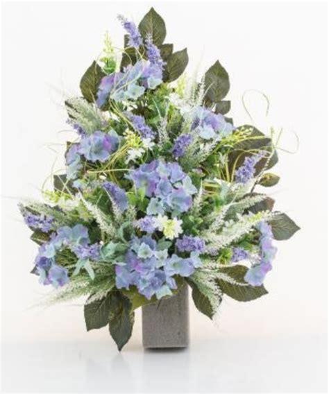 mazzi di fiori finti mazzo di fiori artificiali per loculo con ortensie e lavanda