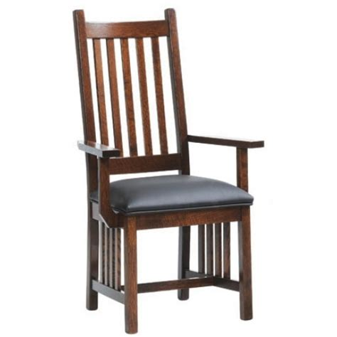 mission spindle back arm chair